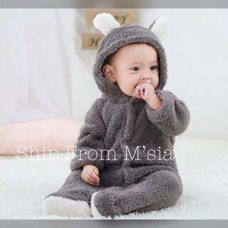Baby Winter Romper Bear