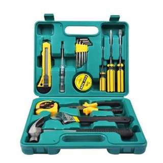16PC CAR MOTORCYCLE MAINTENANCE EMERGENCY KIT COMBINATION AUTO ACCESSORIES HOME HARDWARE TOOLBOX HAND TOOL (GREEN)