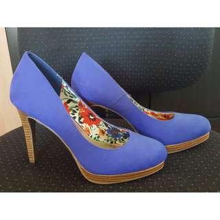 Fioni High Heeled Shoes (Blue)