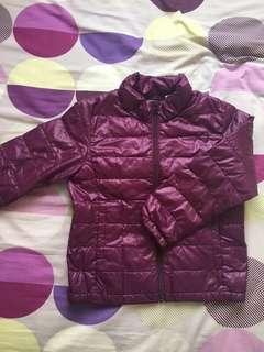 UNIQLI 紫色羽絨外套