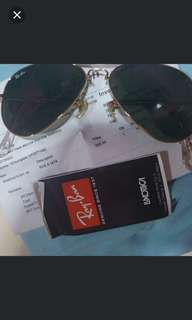 Ray Ban Original Black and Gold Foldable Spect