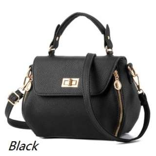 Genuine PU leather mini ladies shoulder bag