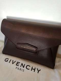 Givenchy Antigona Clutch Dark Brown