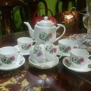 Tea Set bunga kangkung bujang