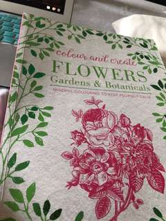 Adult Colouring Book Flowers Gardens and Botanical