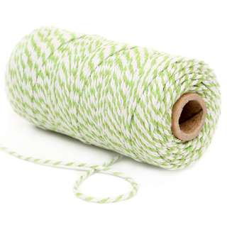 Cotton Bakers Twine 100 Yards – Apple Green