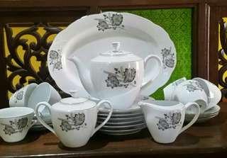Tea set bunga Padi