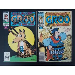Groo the Wanderer #45,#46 (1988 Marvel)- Set of 2, By Sergio Aragones!