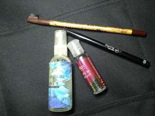 Giveaway#3 [body mist, eye liner, eyebrow pencil, hair vitamin]