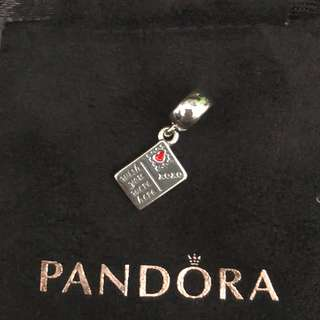 Brand New Auth Pandora Postcard Charm