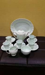 Tea set meakin green jade saiz comel