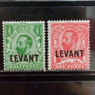 [lapyip1230] 英屬利雲(黑鬚版) 1910年 喬治五世 新票全套 Set Mint