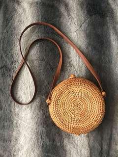 Rattan Round Bag (18cm)