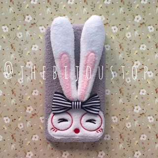 IPHONE 6/6S/6+/6S+/7/8 BUNNY BENDABLE EARS STAND PHONE CASE