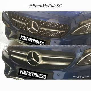 Mercedes-Benz C200 W205 Diamond Grille! Price Inclusive Of Installation!