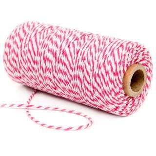 Cotton Bakers Twine 100 Yards – Fuchsia