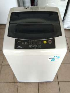 Midea 7kg washing machine fully automatic...We give one month warranty if Anny problem we change or repair body condition 80% good Working condition 100% good You can call or SMS whatsup 01131838436
