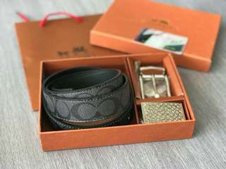 Belt coach leather