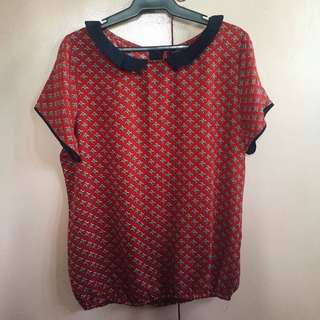 PAPERDOLLS Red Blouse