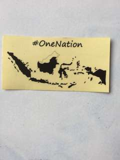 Sticker one nation indonesia