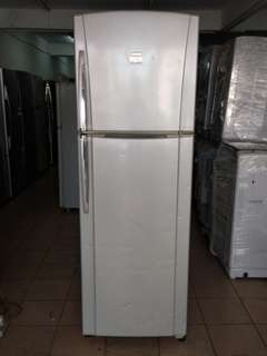 Toshiba too door fridge...We give one month warranty if Anny problem we change or repair body condition 80% good Working condition 100% good You can call or SMS whatsup 01131838436
