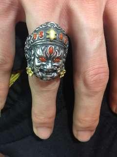 925银戒指镶嵌南红