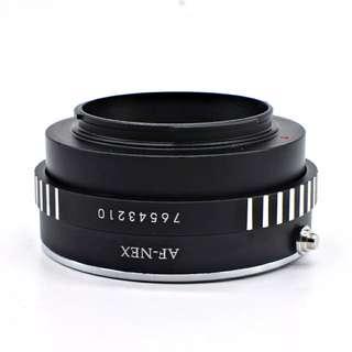 Sony A mount(MA)-NEX Lens 转接环 索尼A系例 美能达MA转接索尼NEX E mount 机身