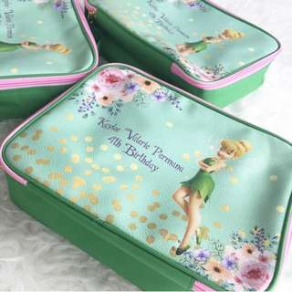 CUSTOM LUNCH BAG CANVAS POUCH tinkerbell