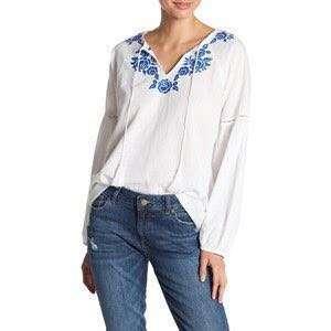 Embroidery top blouse baju atasan blus putih ruffle etnik bordir katun kaos import bangkok motif zara hnm stradiv bershka uniqlo boho bohemian