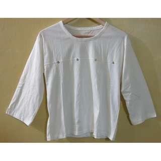 White Cirle Metal Long Sleeves (Korean Style) AWPH