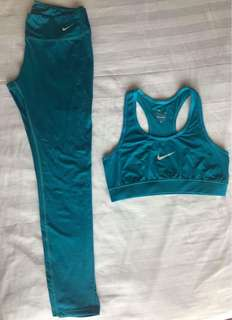 Nike Active Wear Set Aqua Full Leggings