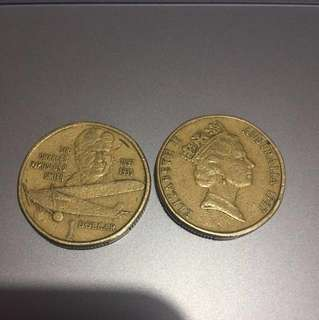 Sir Charles Kingsford Smith 1897-1935 $1 coin (1997)