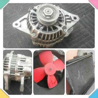 Alternator /kipas radiator /tayar