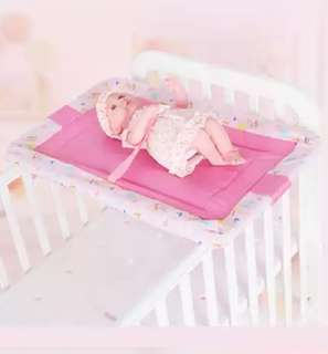 Diaper Changing table,can be hooked onto baby cot n hang aside when not in use.