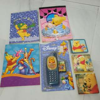 BN disney Winnie the Pooh mobile phone toy books stickers