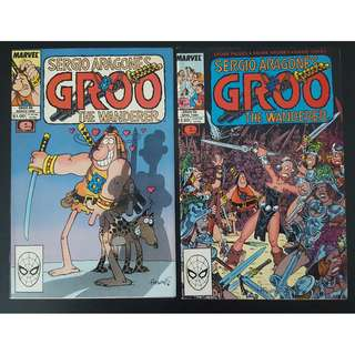 Groo the Wanderer #49,#50 (1989 Marvel)- Set of 2, By Sergio Aragones! GROO in Love! GIANT-SIZED 50th Issue!