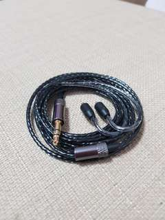 Mmcx cable with straight metal 3.5mm jack