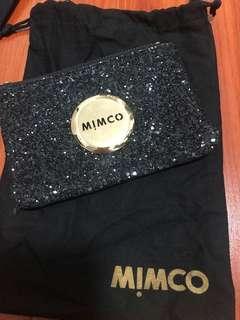 Mimco black sparkle pouch