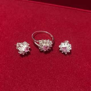 92.5 Silver Earrings and Ring Set