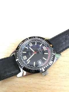 未使用品 7、80年代法國皮潛水自動手錶 Jean-Louis Skin Diver, NOS