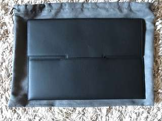 New Tom Ford Leather Clutch Document  Case Portfolio Envelope Document Holder Buckley Italy