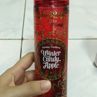 Bath & body works perfume and body lotion winter candy apple