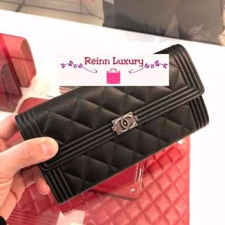 eecc9f28addb Limited New Preorder Chanel Boy Long Wallet Exclusive From Europe