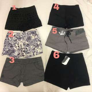Preloved and New Short pants