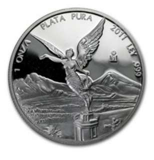 2011 1oz proof libertad silver coin