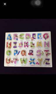 26Pcs Wood Alphabet English Letters Puzzle Jigsaweducational Toy Gift