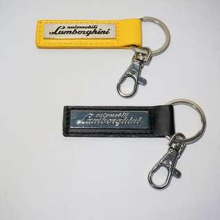 7-11 藍寶堅尼 鑰匙圈 限量版金屬環扣鑰匙圈 時尚長型黃色  絕版品 全新 收藏品 超商集點