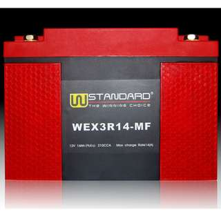 W-STANDARD Motorcycle lithium battery WEX3R14-MF Start the power supply 14Ah