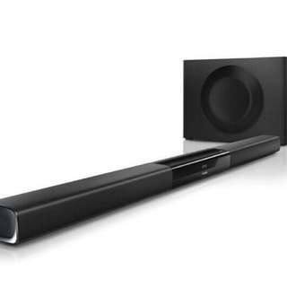 Soundbar + Wireless Subwoofer with Remote Control - Bluetooth NFC HDMI RCA Aux Optical Cable.