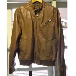 Mango Man Leather Jacket